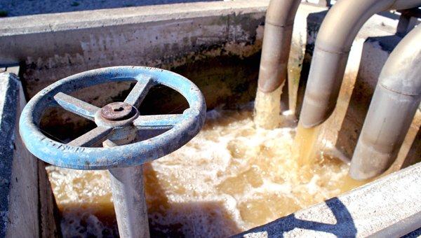 Detalle del agua de entrada en Tafalla-Olite