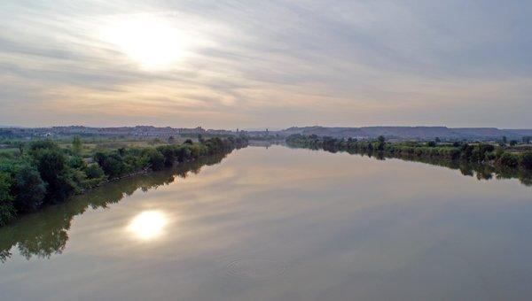 Río Ebro a su paso por Tudela
