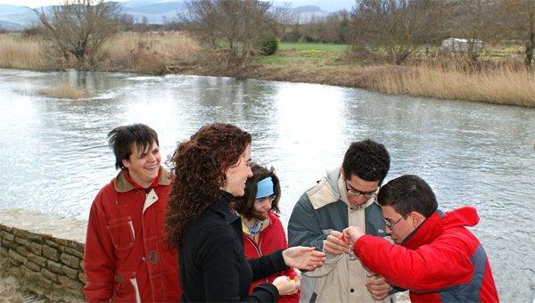 Taller en el río del programa educativo