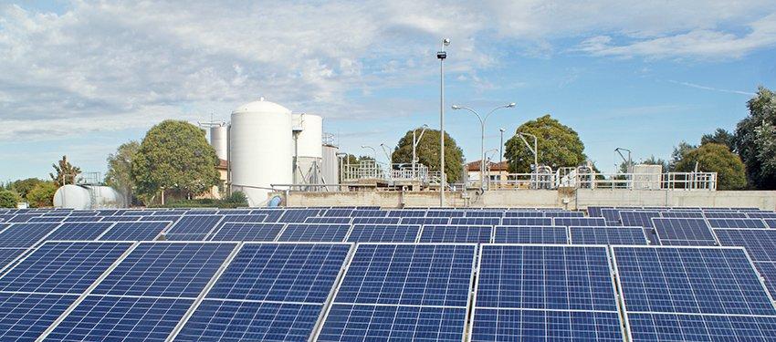 Placas solares en la depuradora de Tafalla-Olite